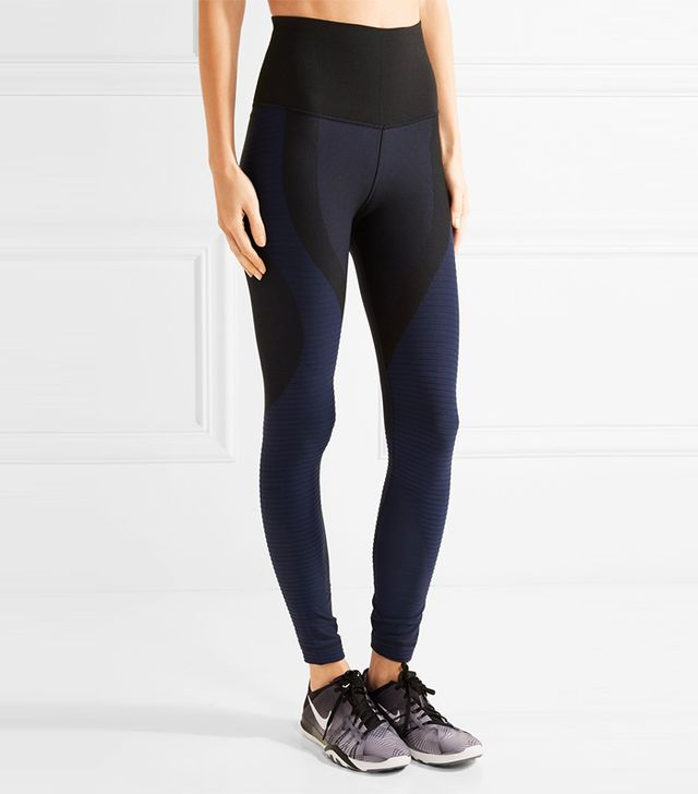 Nike Zoned Sculpt Ribbed Stretch-Jersey Leggings