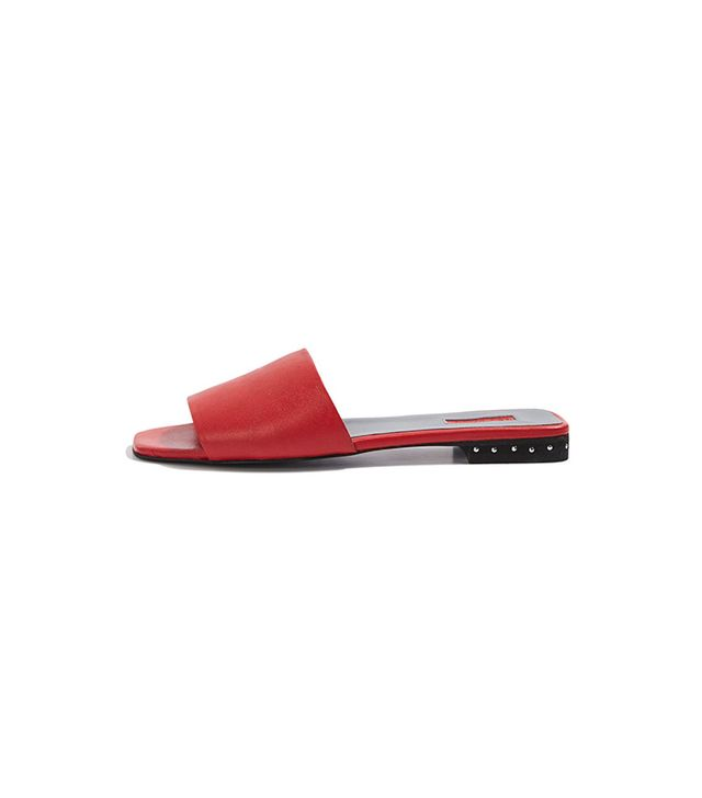 Topshop Fern Studded Heel Sliders