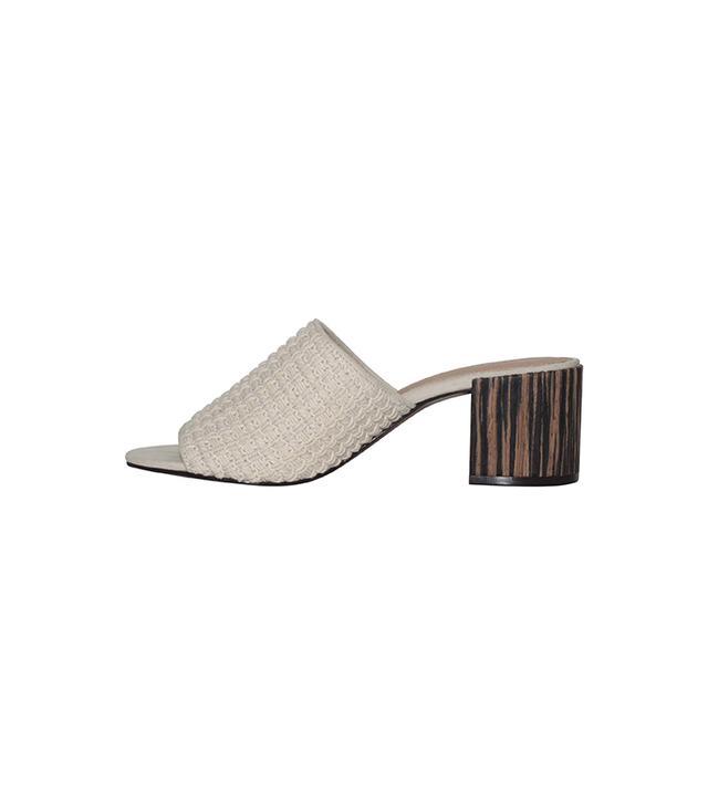 Who What Wear Women's Felicity Macrame Strap Block Heel Slide Sandals
