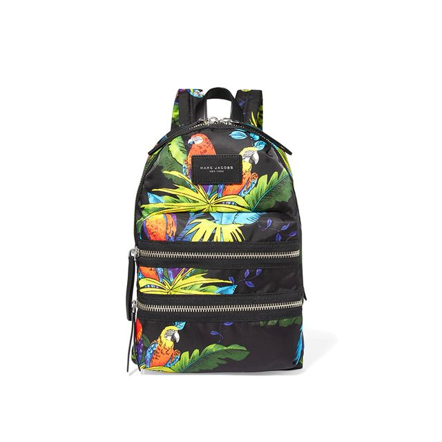 Marc Jacobs Leather-Trimmed Printed Shell Backpack