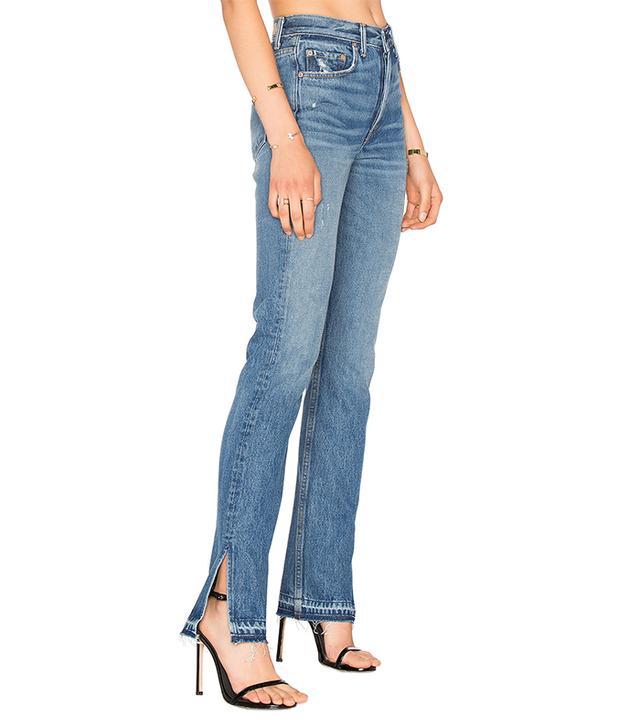 jean styles - GRLFRND x Revolve Natalia High-Rise Skinny Split Jean