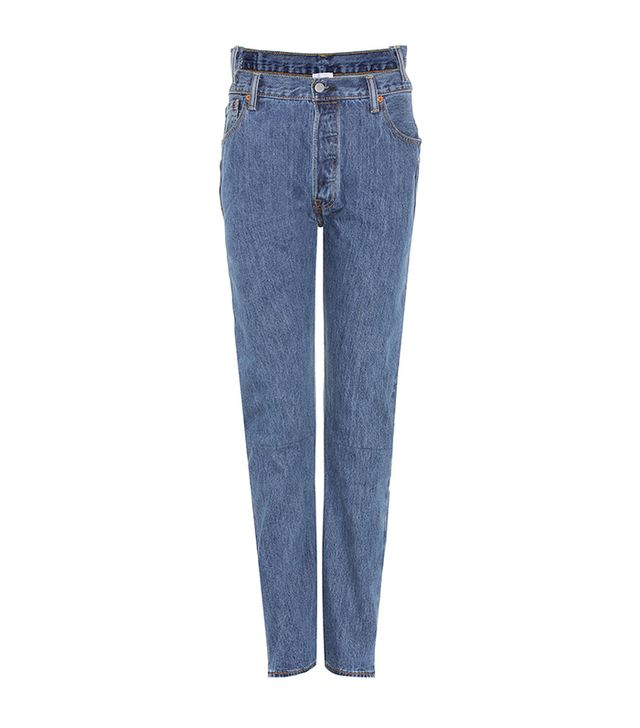 jean styles - Vetements x Levi's High-Waisted Reworked Jeans