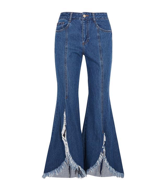 jean styles -  SJYP Steve J & Yoni P Frayed Jeans