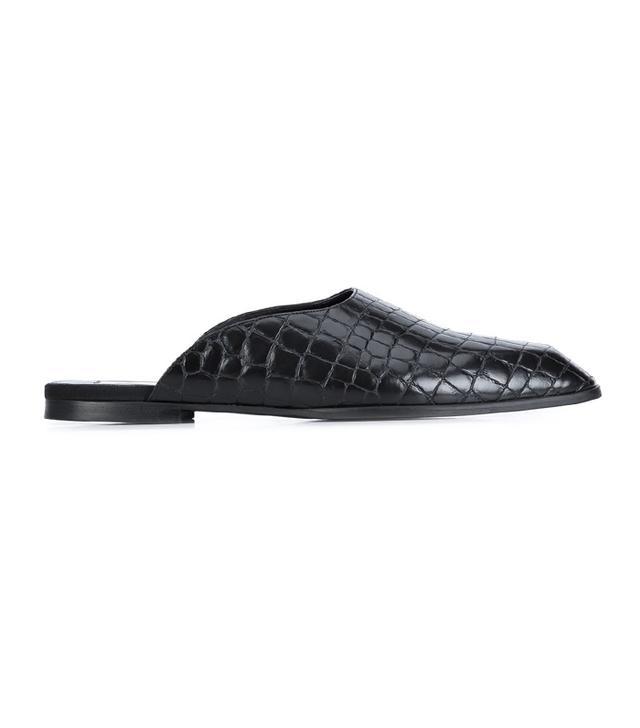shoe trend -  Stella McCartney Crocodile Embossed Flat Mules