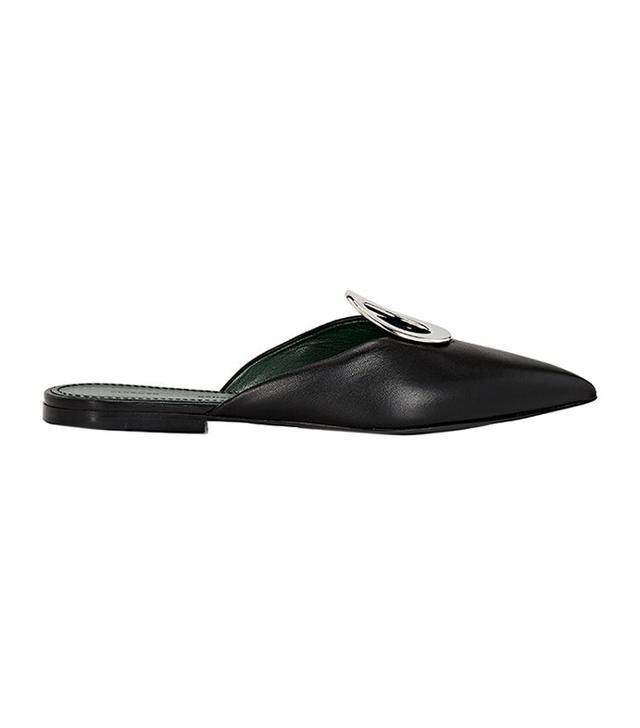 shoe trend -  Proenza Schouler Grommet-Embellished Leather Slides