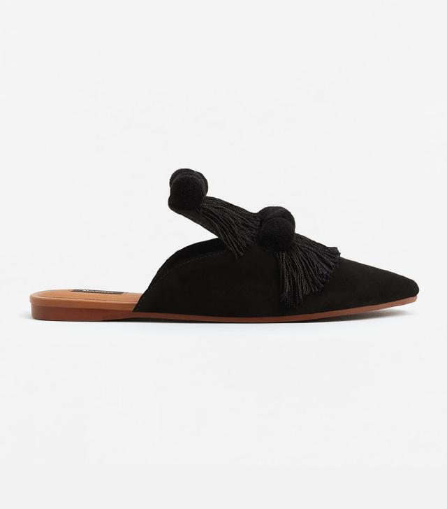 shoe trend - Mango Fringed Leather Shoes