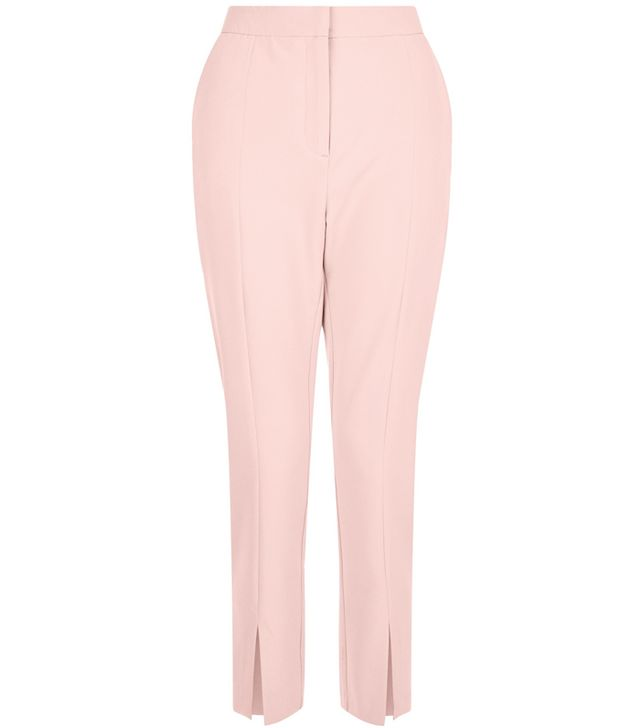 New Look Mid Pink Split Front Trousers