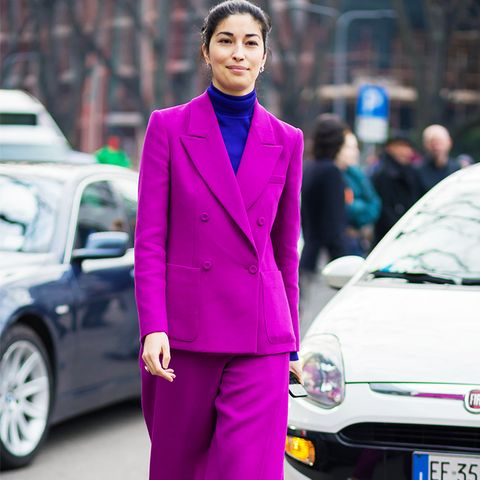 How to Wear Purple: Purple tailoring is the perfect tomboy option