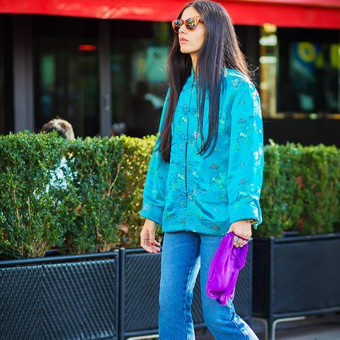 How to Wear Purple: Just add a jolt of purple via accessories
