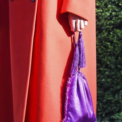 How to Wear Purple: Deep purple and bright red are the dream colour team