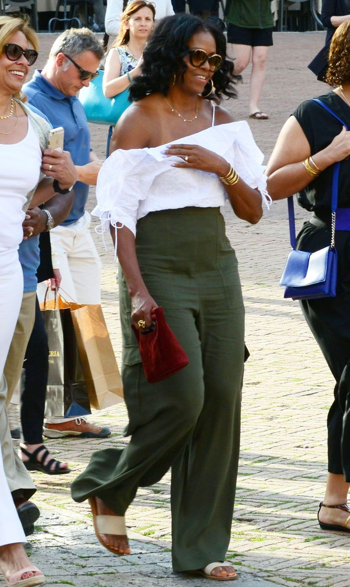 Michelle Obama Tuscany Italy Vacation Outfit