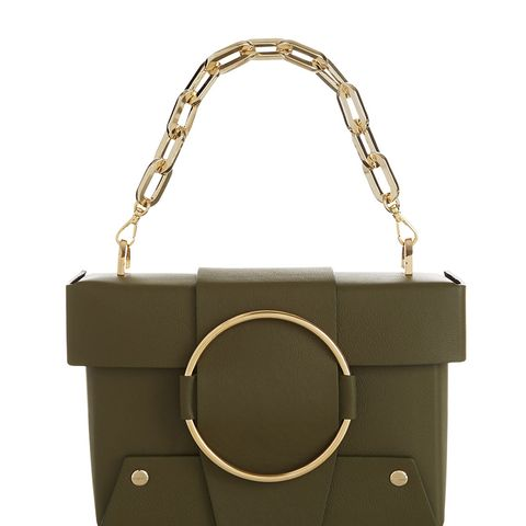 Khaki Asher Chain Box Bag