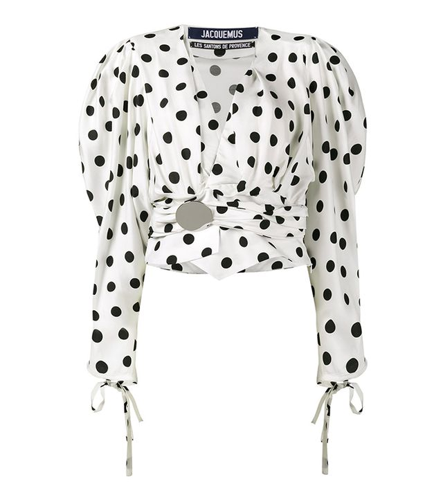 Jacquemus Polka Dot Top with Oversized Sleeves