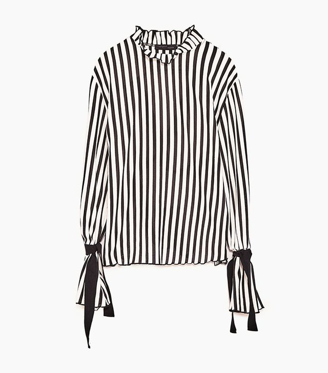 Zara Striped T-Shirt with Back Straps