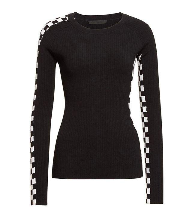 Alexander Wang Intarsia Check Knit Sweater