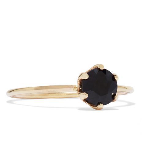 Pin 14-Karat Gold Sapphire Ring