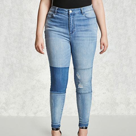 Plus Size Reworked Jeans