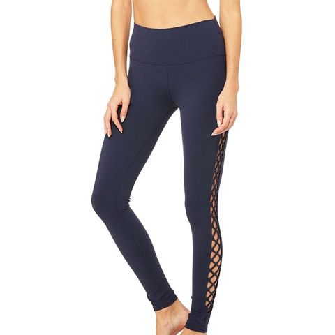 Interlace Leggings in Rich Navy