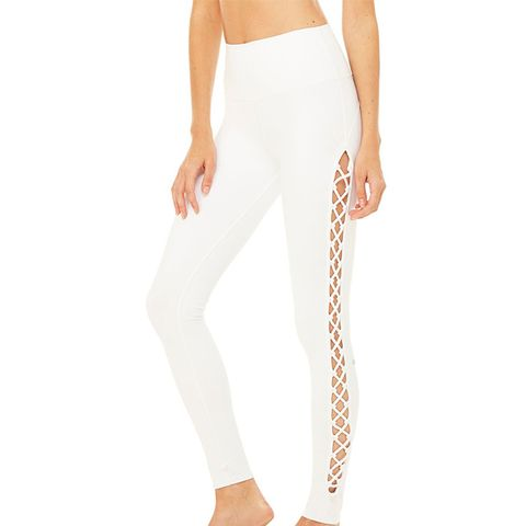 Interlace Leggings in White
