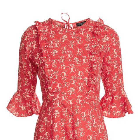 Floral Print Ruffle Playsuit