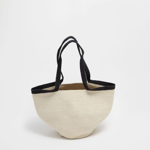 Basket With Handles and Zigzag Design