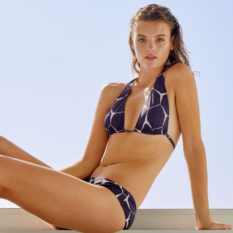 Turtle Shell Print Bikini