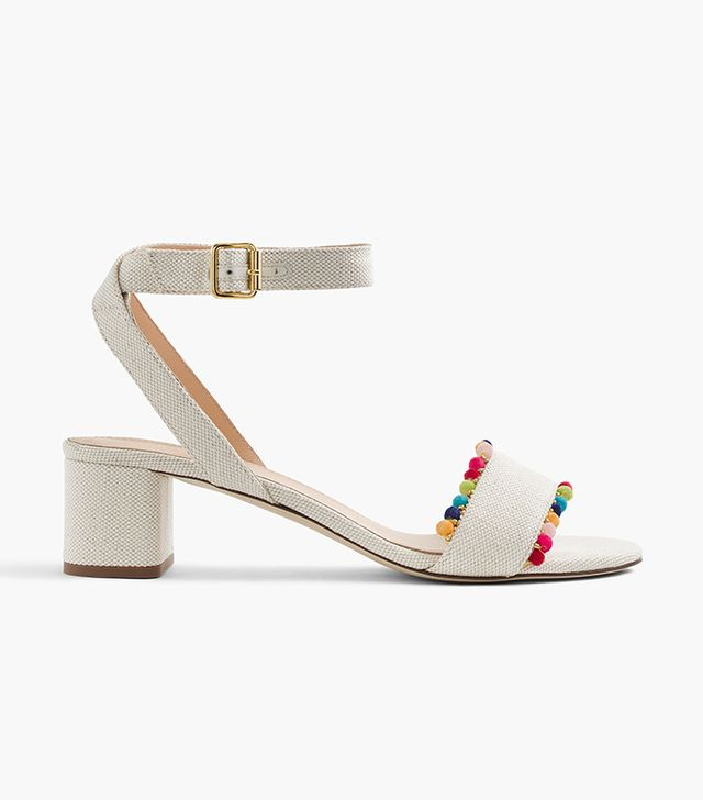 J.Crew Lottie Sandals With Pompoms