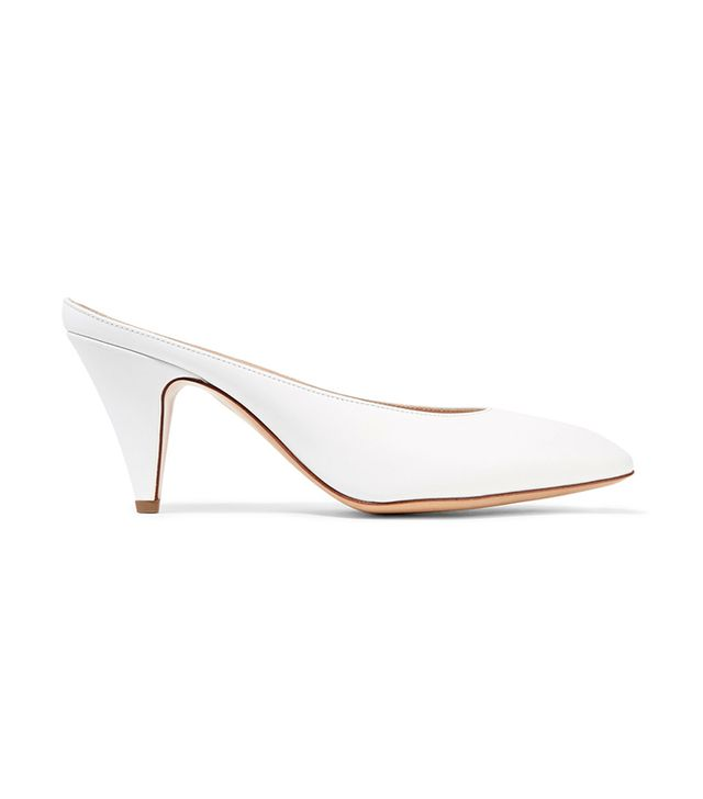 Mansur Gavriel Heel Slipper Leather Mules