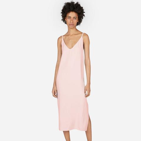 The Japanese GoWeave Long Slip Dress in Rose