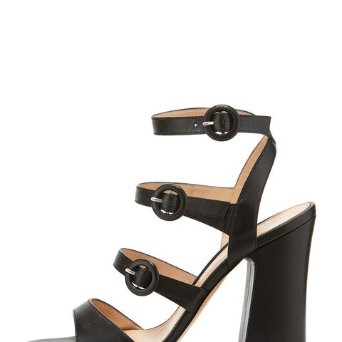 Leather Multi-Strap Block-Heel Sandal