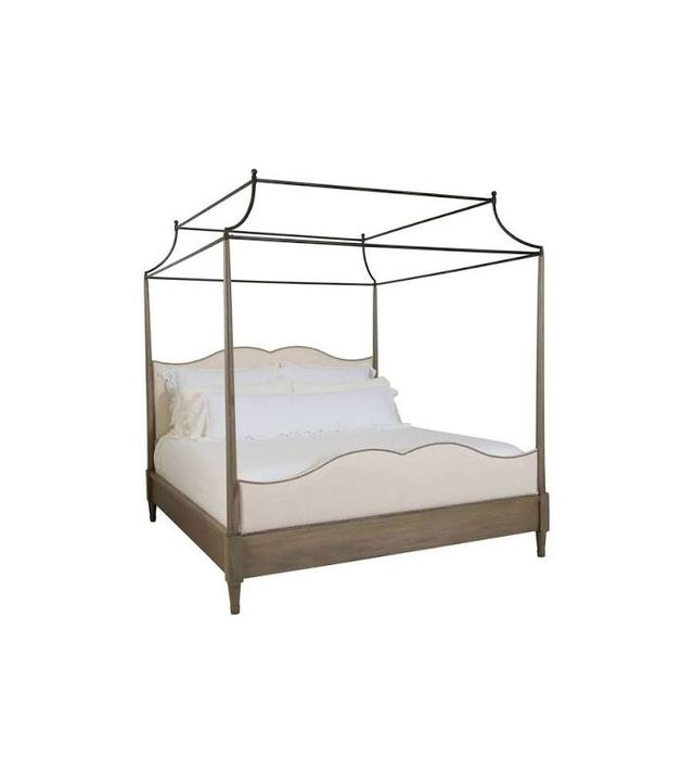 Kathy Kuo Home Marietta French Country King Canopy Bed
