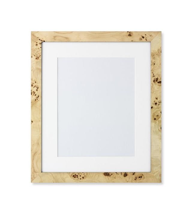 Williams-Sonoma Exotic Burled Wood Gallery Picture Frame