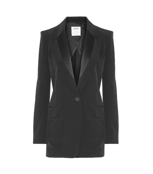 DKNY Satin-Trimmed Blazer