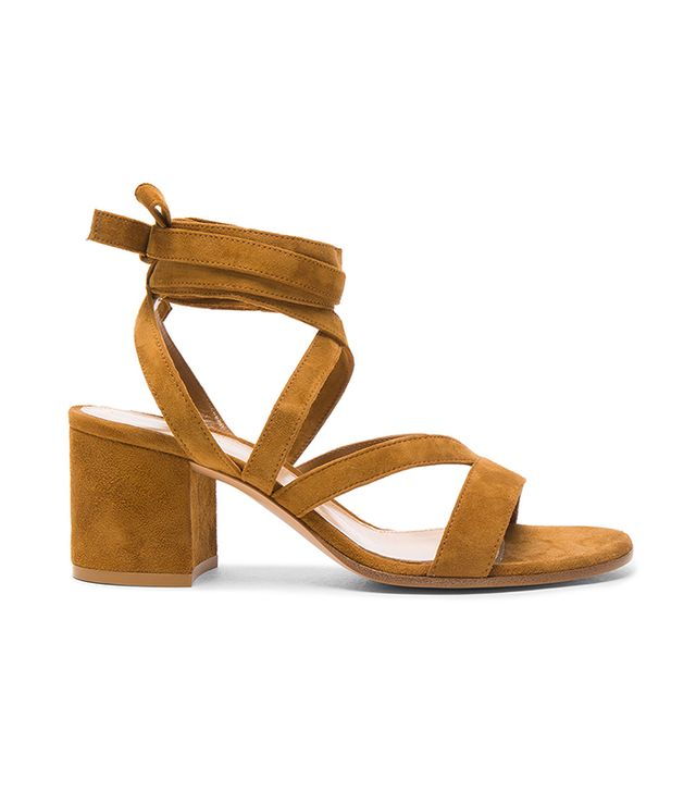 Gianvito Rossi Suede Janic Low Sandals