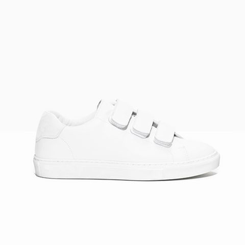 Scratch Strap Leather Sneaker