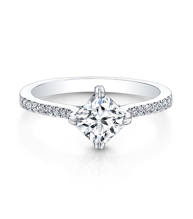 Forevermark Four Prong Solitaire Ideal Square Ring