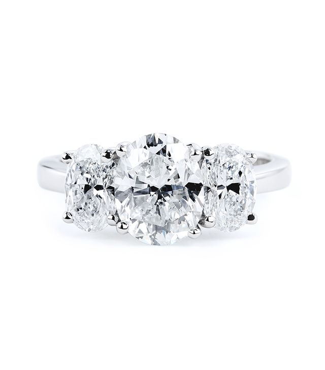 Forevermark Oval Three Stone Ring