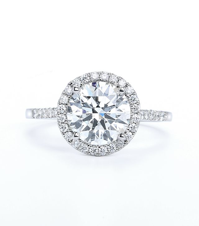 Forevermark The Center of My Universe Halo Engagement Ring