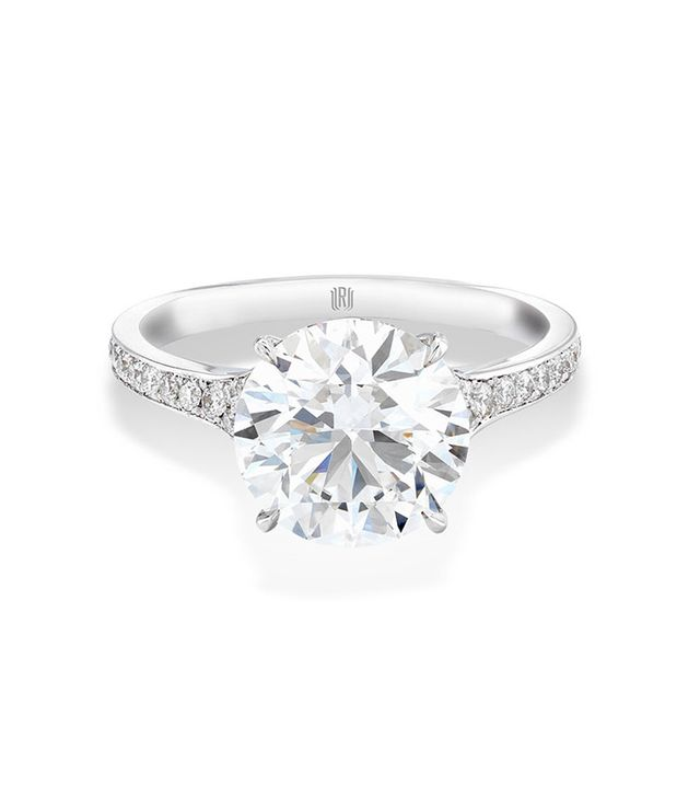 Forevermark Soliaire Engagement Ring with Pave Band