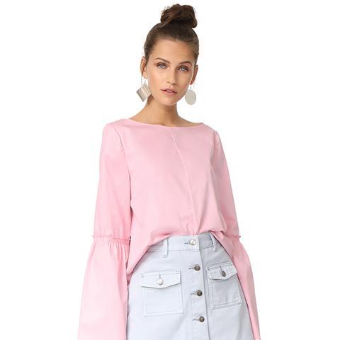 Bell Sleeve Top in Rose