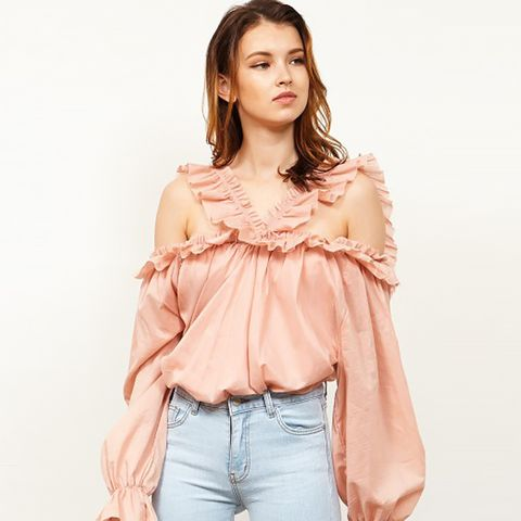 Sandy Ruffle One Shoulder Top