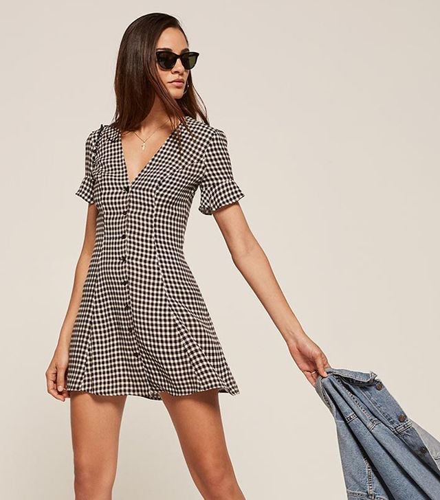 Reformation Dolce Dress in Checkers