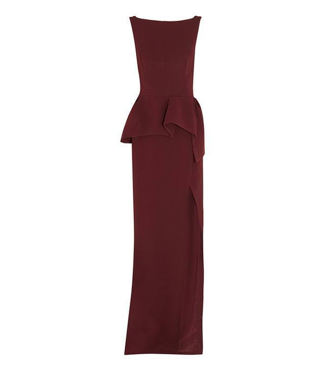 Balenciaga Stretch-Crepe Peplum Gown