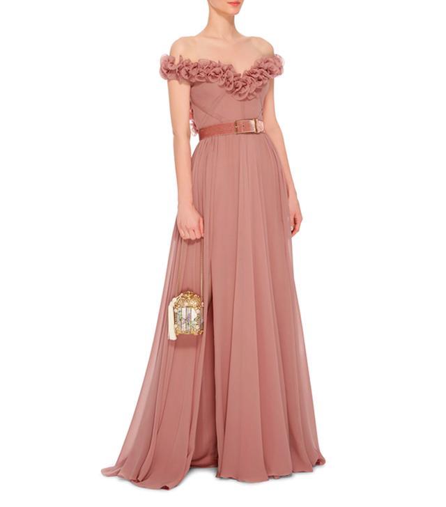 Elie Saab Sleeveless Ruffled Gown