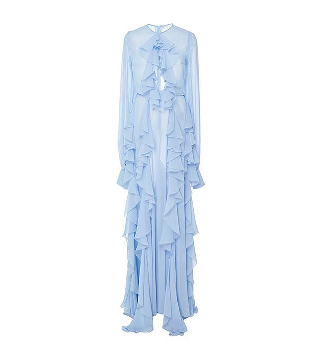 Lana Mueller Lily Cascade Collar Maxi Dress