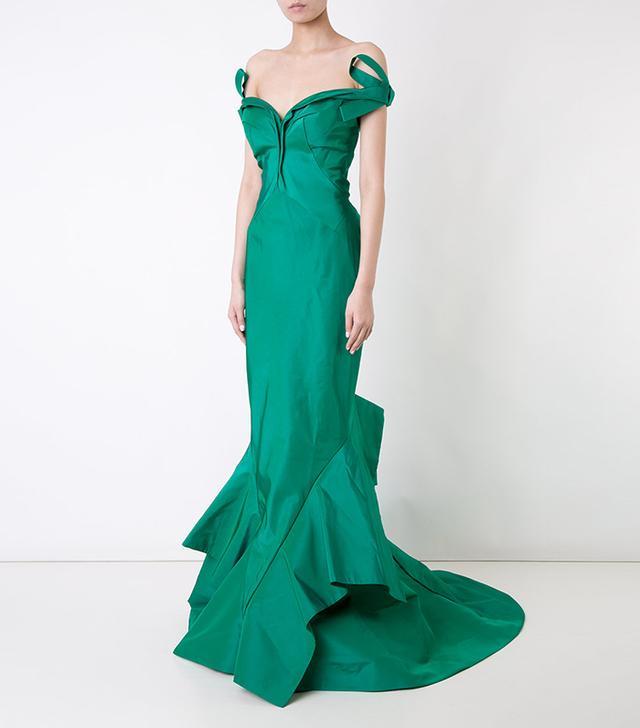 Zac Posen Bardot Fishtail Gown