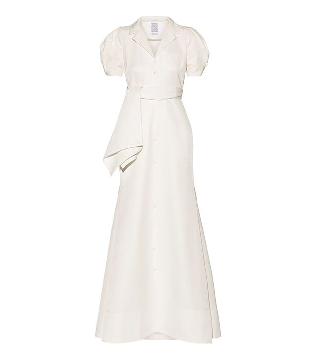 Rosie Assoulin Belted Cotton-Blend Faille Gown