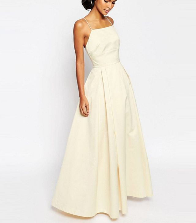ASOS Bridal Extreme Sateen Maxi Prom Dress