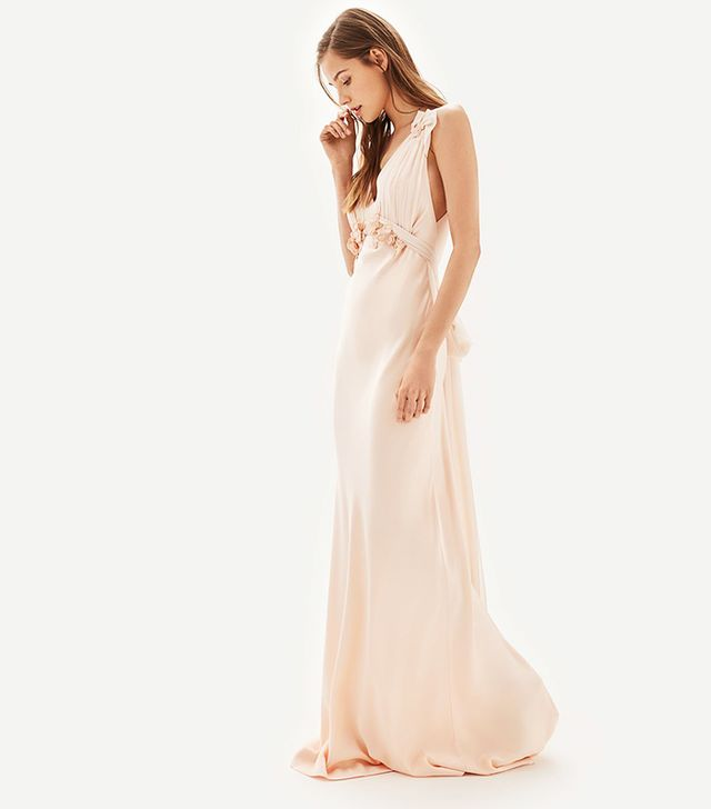 Topshop Bride Embroidered Applique Maxi Bridal Dress