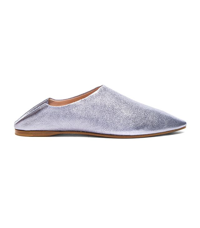 Acne Studios Silver Space Flats